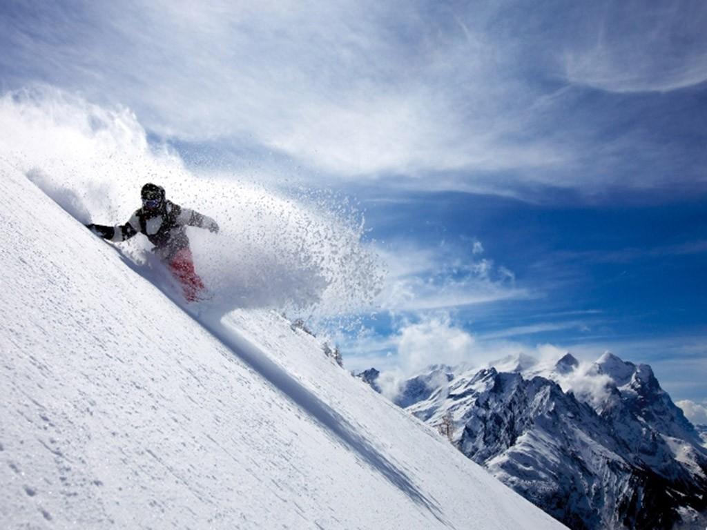 Snowboarden im Haslital